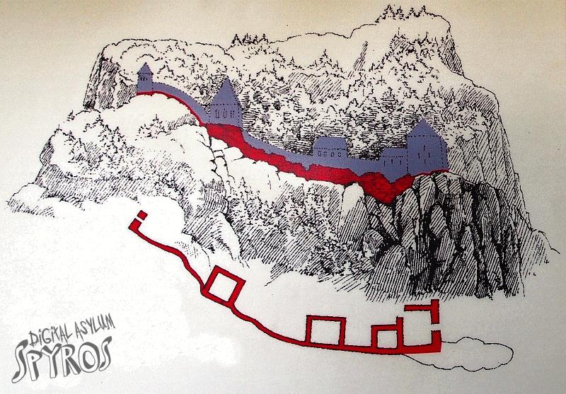Pieninský hrad - pôdorys