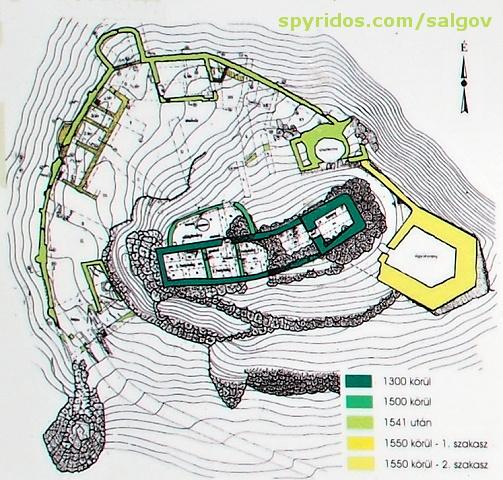 Pôdorys hradu Šalgov