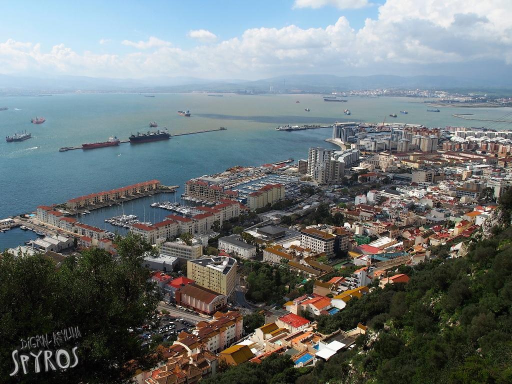 Bahía di Algeciras from Gibraltar
