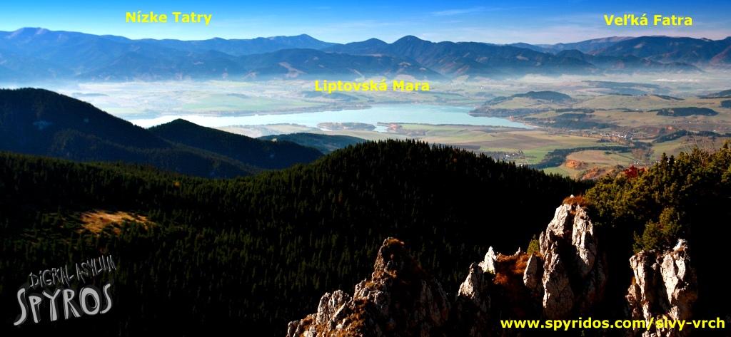 Sivý vrch - panoráma Liptova