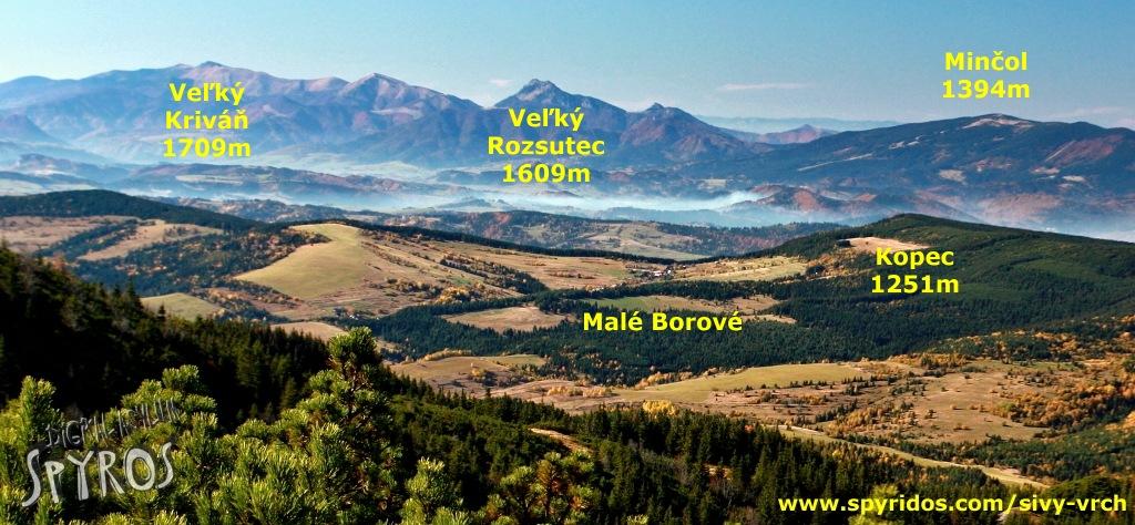 Sivý vrch - panoráma Malej Fatry