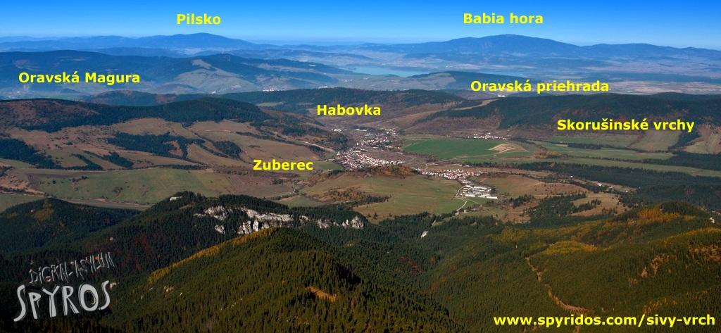 Sivý vrch - panoráma Hornej Oravy
