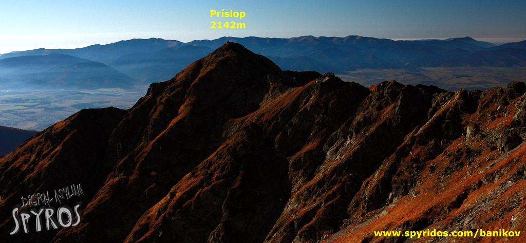 Príslop z vrcholu Baníkov