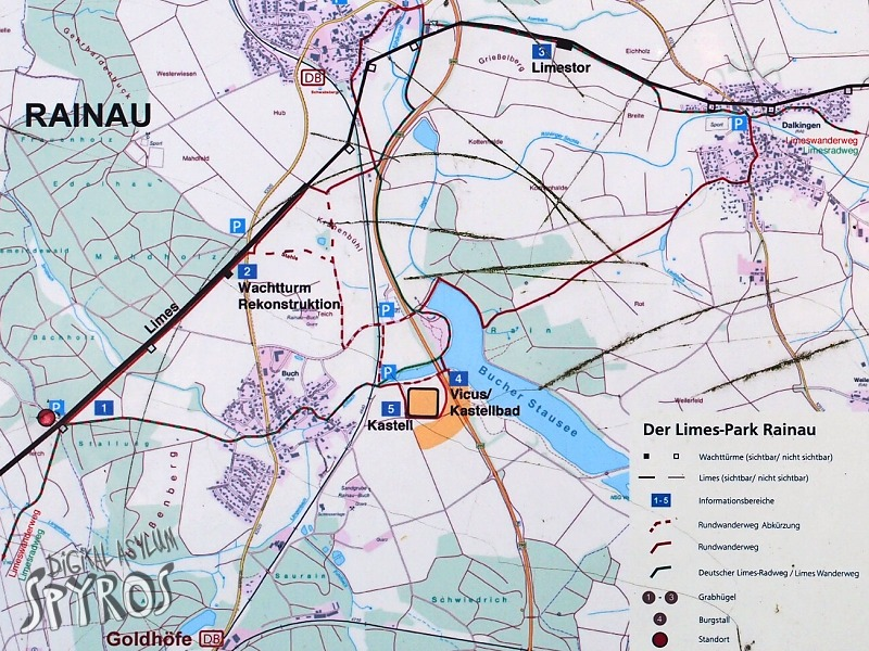 Rainau - Limes Map