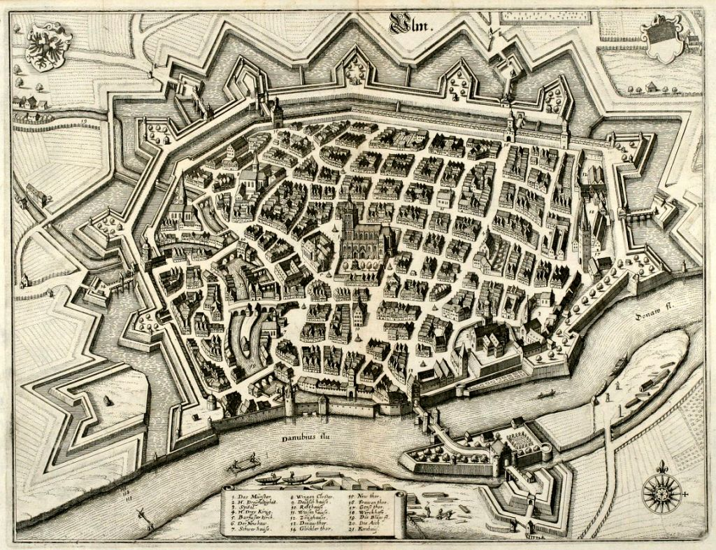 Ulm - Map from 1643
