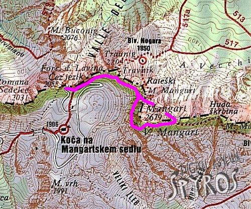 Mangart - Map