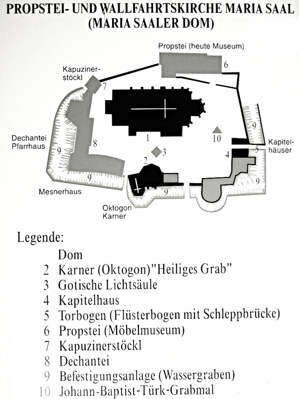 Maria Saal cathedral map