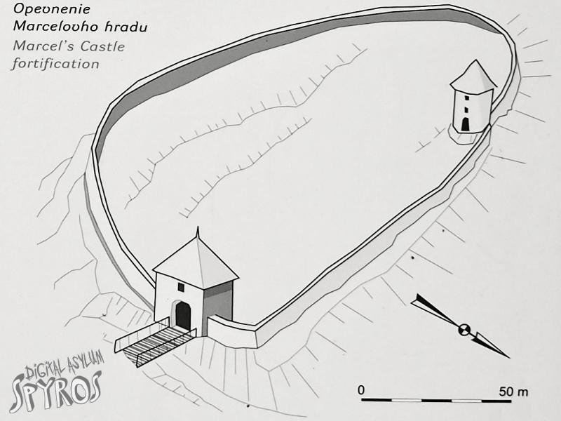 Hrabušický hrad - nákres