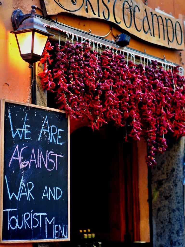 Trastevere - Make Peace not Tourist Menu