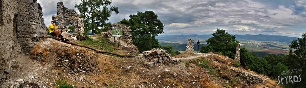 Hrad Zniev (Turiec) - Panoráma