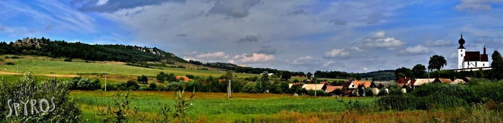 Žehra, Spišský hrad a Dreveník - panoráma