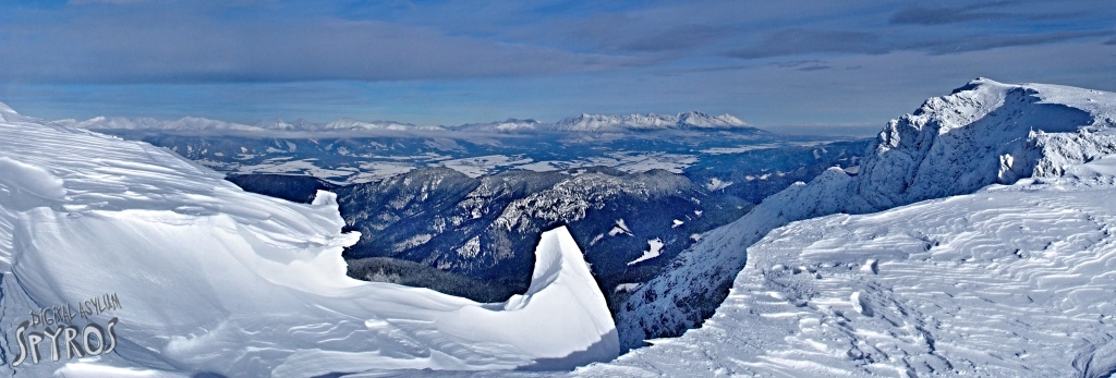 Ďumbier - Vysoké Tatry panoráma