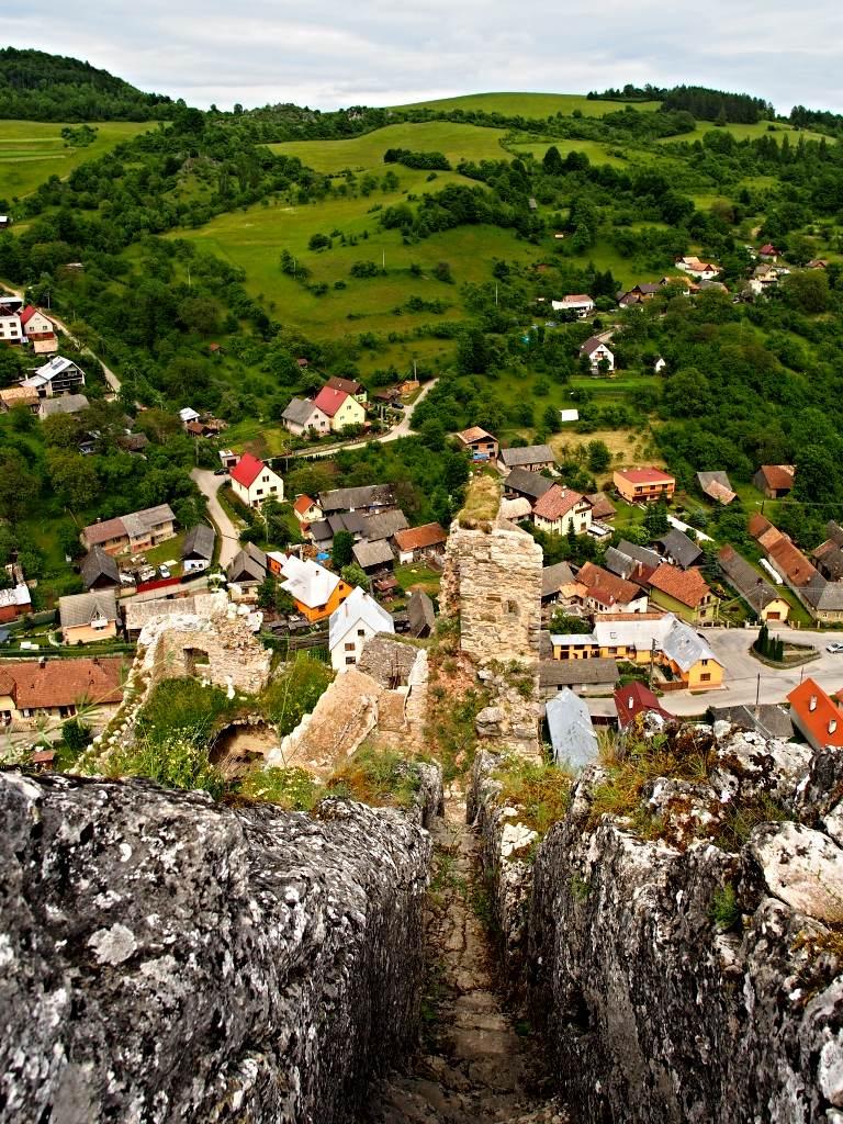 Hrad Lednica - Schodisko v skale