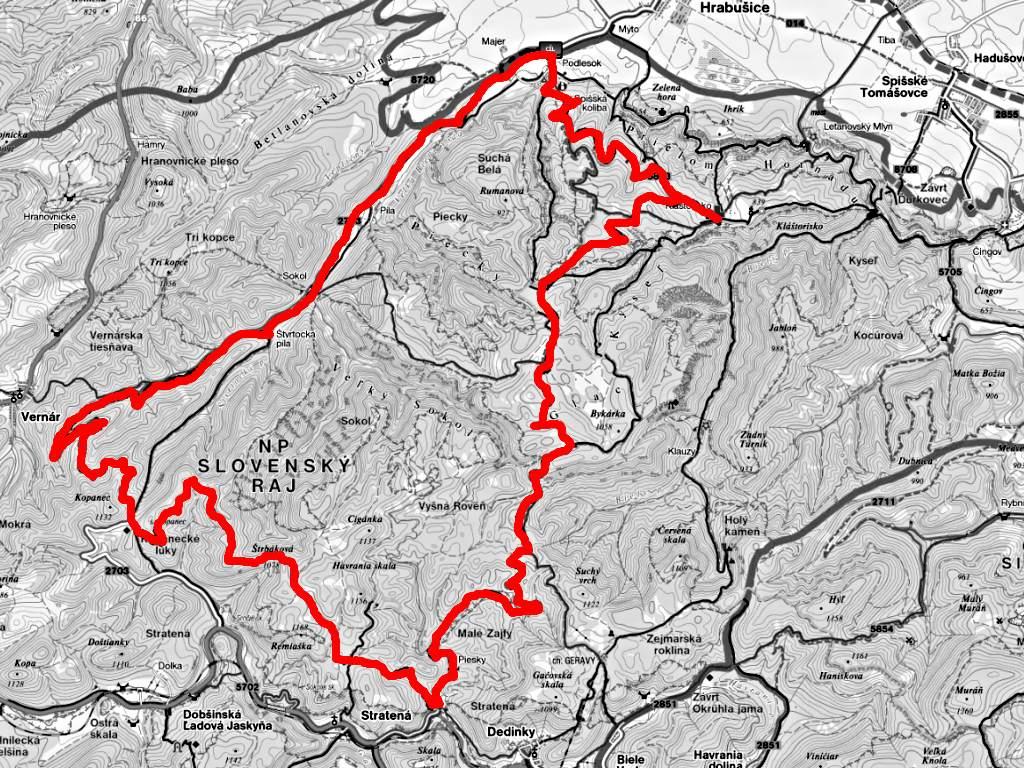 Slovenský Raj - Glacká cesta
