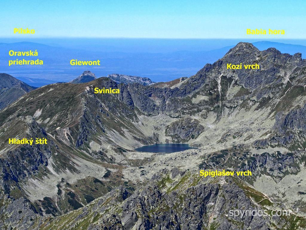 Čubrina - výhľad na Kozí štít