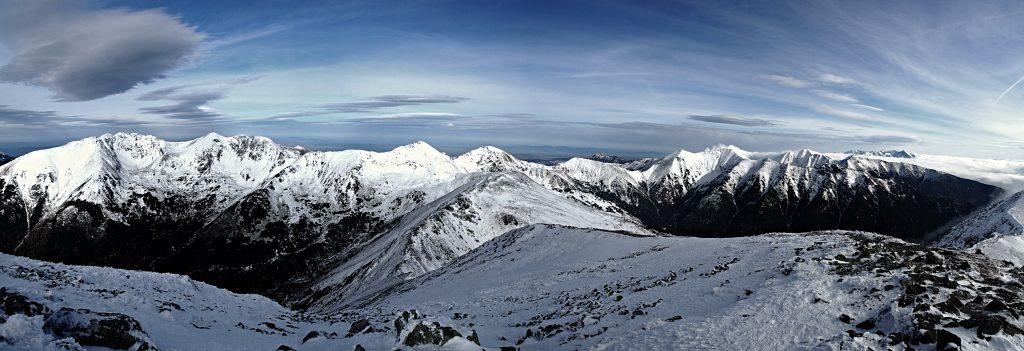 Panoráma Tatier z vrcholu Baranec